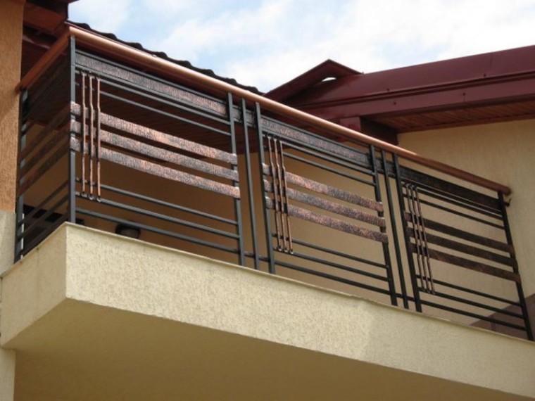 Кованое балконное ограждение КБО-15
