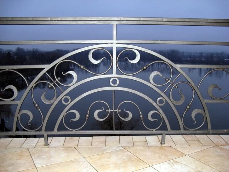 Кованое балконное ограждение КБО-16