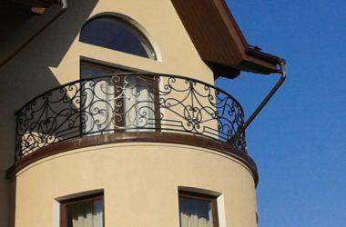 Кованое балконное ограждение КБО-21