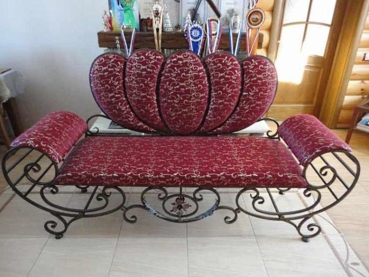 Кованый диван КД-3