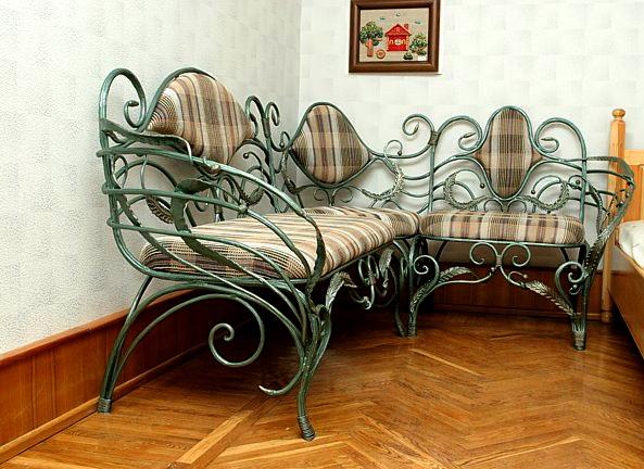Кованый диван КД-6