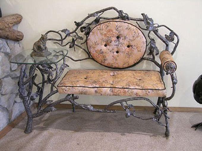 Кованый диван КД-8